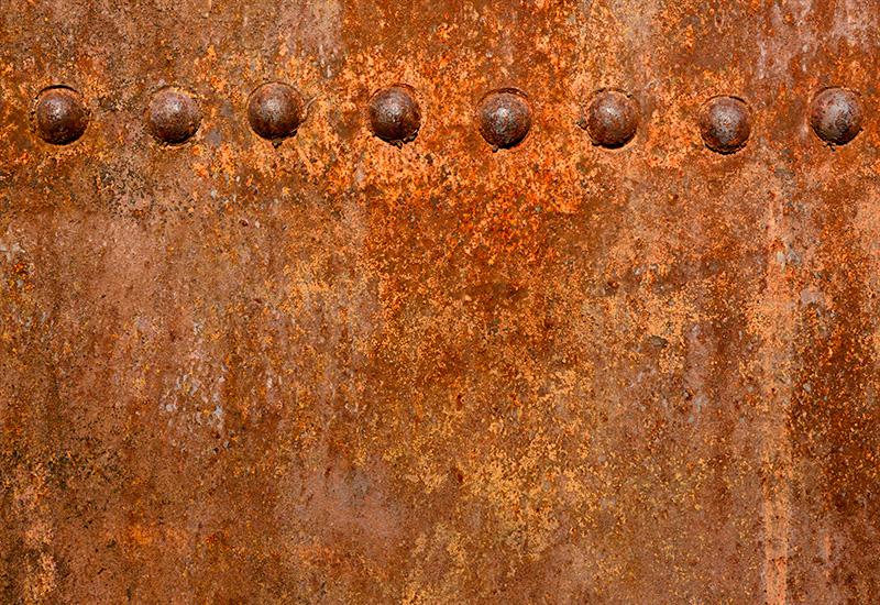 Superficie de pared de Metal oxidado. (2)