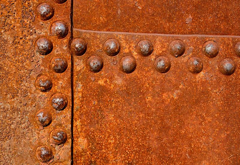 Superficie de pared de Metal oxidado.